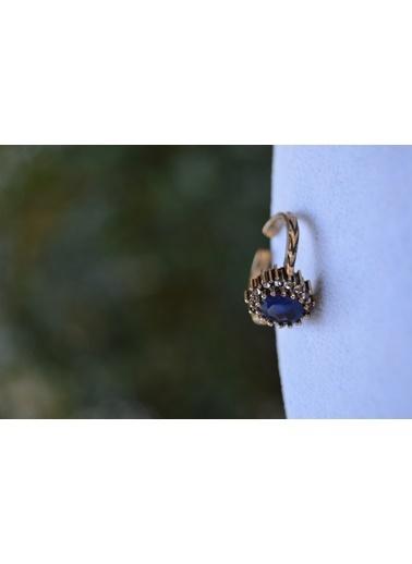 Stoneage Oval Safir Ayarlanabilir Kadın Yüzük Mavi